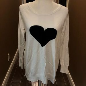 Heart sweater by Neiman Marcus